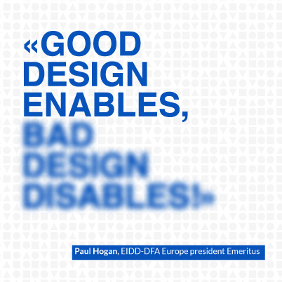 Good design enables, bad design disables!